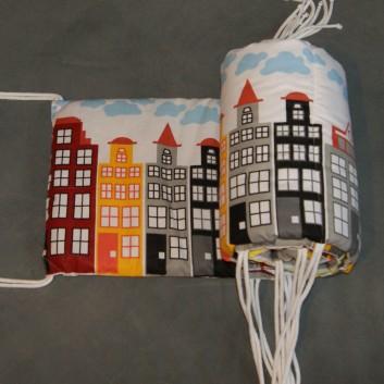 Ochraniacz do łóżeczka miasto 30x180 handmade