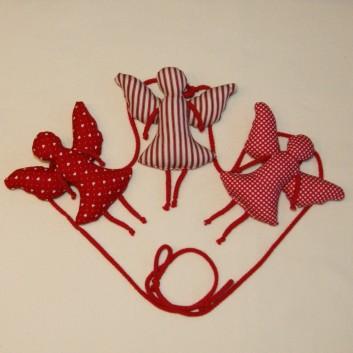 Nursery bunting angels in red