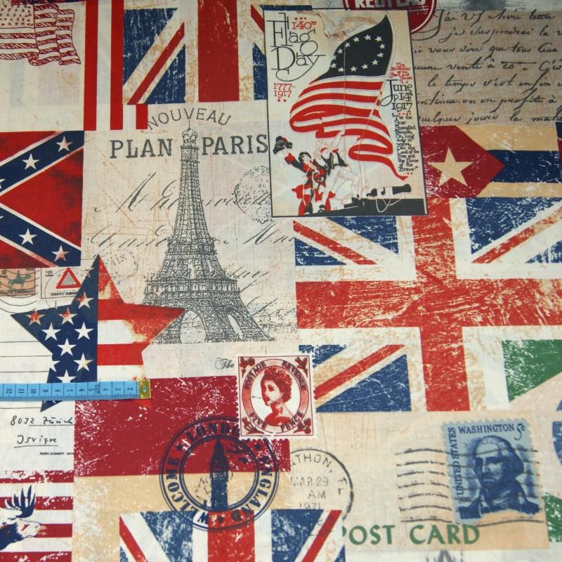 Bawełna we flagi, indywidualne zamówienie, handmade