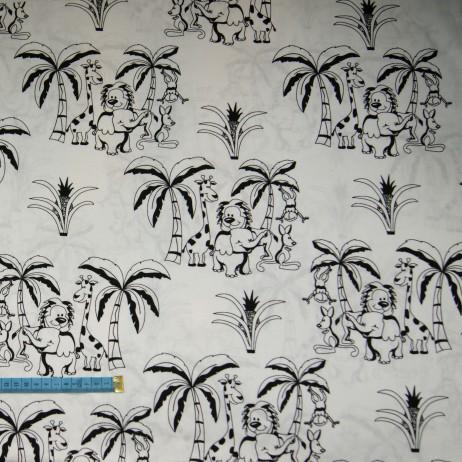 Bawełna safari biało-czarna, indywidualne zamówienie, handmade