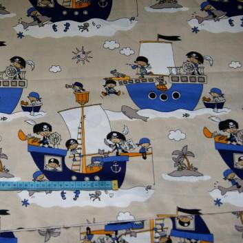 Bawełna piraci na okrętach, indywidualne zamówienia, handmade