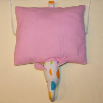 poduszka przytulanka słonik kolorowe grochy, flanela handmade