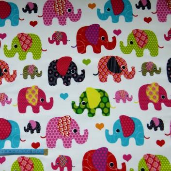 Bawełna kolorowe słoniki, indywidualne zamówienie, handmade