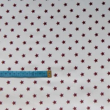Bawełna kremowa w brązowe gwiazdki, indywidualne zamówienie, handmade