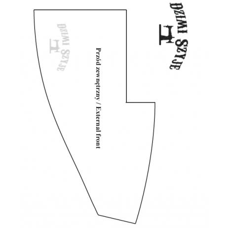 Wykrój - saszetka biodrowa / nerka z dwiema kieszeniami. Bezpłatny PDF. do pobrania