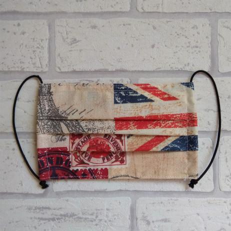 Maseczka ochronna bawełniana - wielorazowa / flagi Handmade