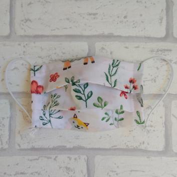 Dziecięca maseczka ochronna bawełniana - wielorazowa / zwierzątka Handmade