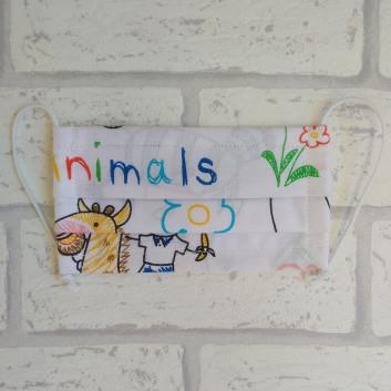 Dziecięca maseczka ochronna bawełniana - wielorazowa / szkoła Handmade