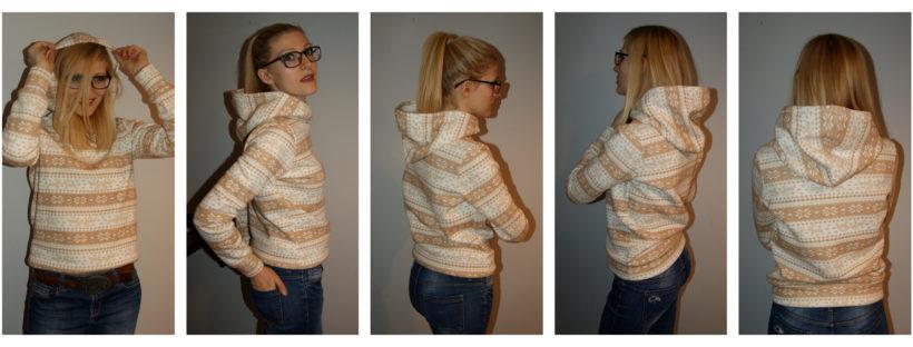 bluza, bluza z kapturem, renifery, świąteczne wzory, dresówka, DIY,